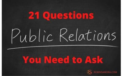 21 Questions to Ask Before You Write a PR Plan in 2021